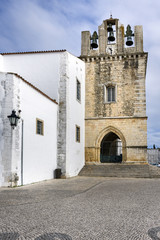 Church of Se on the historical area of Faro, Portugal.