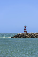Old lighthouse on South coastline, Portugal