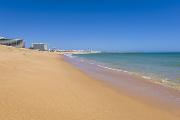 Clean beach in Vilamoura resort, Portugal