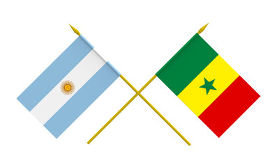 Flags, Argentina and Senegal