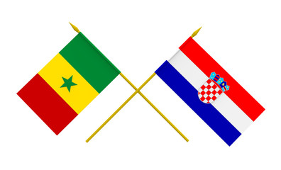 Flags, Croatia and Senegal
