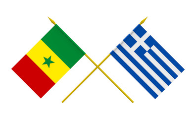 Flags, Greece and Senegal