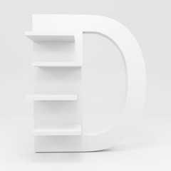 alphabet shelf shape D