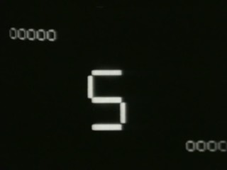 Retro film countdown from 8 to 0