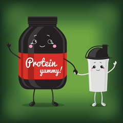 Cute Jar Sport Nutrition and Shaker.