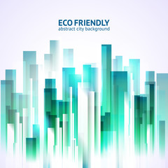 Eco friendly abstract city background