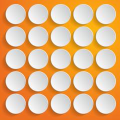 White circles on orange background - vector illustration