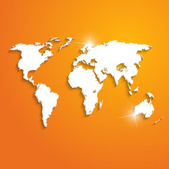 Abstract background with world map - vector illustration