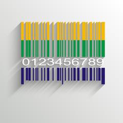 Brazil Summer Barcode Background - vector illustration
