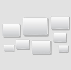 Abstract square background on white - Vector illustration