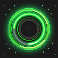 Green colored power indicator