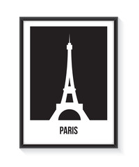 Paris poster with black frame