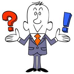 ビジネスマン 疑問と気づき