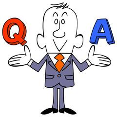 ビジネスマン 質問と答