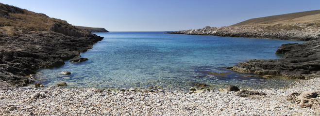 Solitary bay in Peloponnese