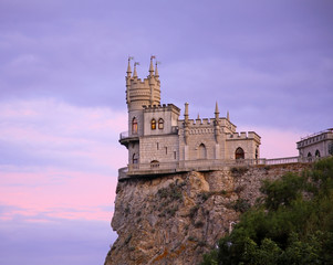 Swallow's Nest in Gaspra. Crimea. Ukraine