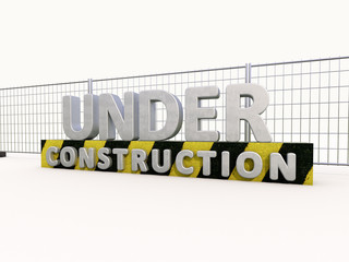Under construction and fence