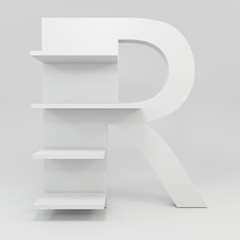 alphabet shelf shape R