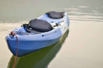 Kayak on water