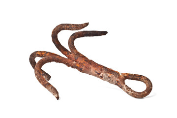 antique ship anchor