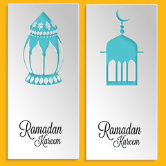 Ramadan Kareem Paper Cut Out Cards