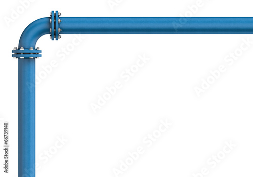 Metal pipe isolated on a white background - 66739140