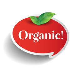 Organic label or sticker for products