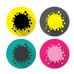 Icons blot. Set. Vector colorful spots, blots, splashes.