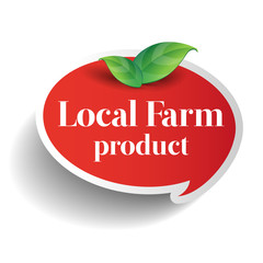 Local farm product food label, badge or seal