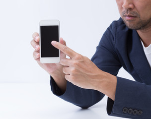 Business man hand with smartphone