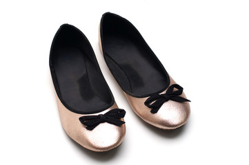Women flat shoes isolated
