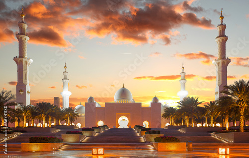 Poster Sheikh Zayed mosque in Abu Dhabi, United Arab Emirates