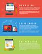 Icons for web design, seo, social media