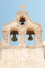 Bell tower of historic Preveli monastery, Crete, Greece