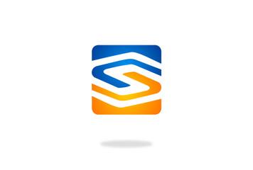S alphabet vector logo