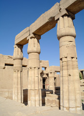 Great Hypostyle Hall at the Temples of Karnak . Luxor, Egypt