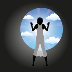 immagine simbolica della visione del paradiso