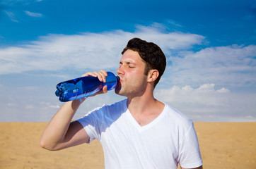 Man drinking water