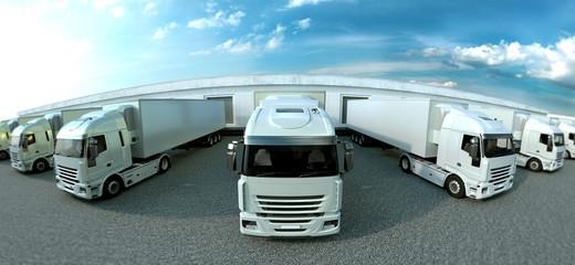 Shipping yard panorama