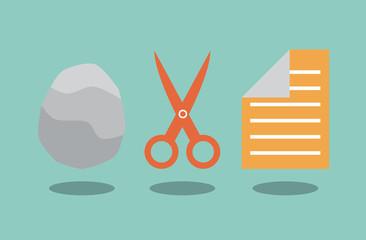 Rock scissors and paper. Solution concept.