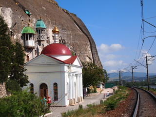 Monastery in the rock. Sevastopol.