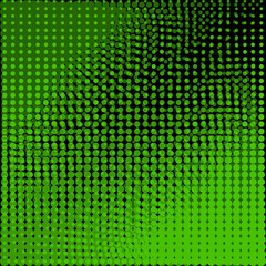 Circles black and green background