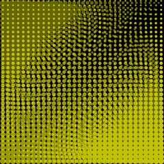Circles black and yellow background
