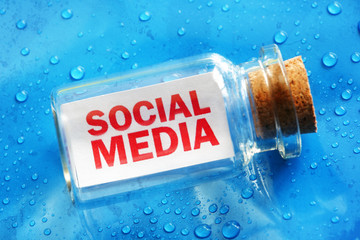 Social media message in a bottle
