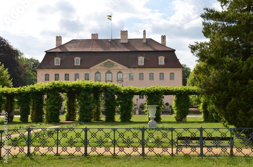 canvas print picture Pergolagarten am Branitzer Schloss