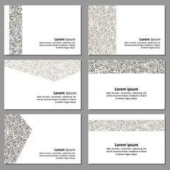 Set of neutral business cards