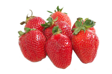 Group of strawberry isolated