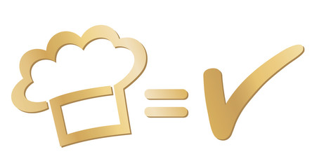 """Gute Küche"" - Gold-Logo"