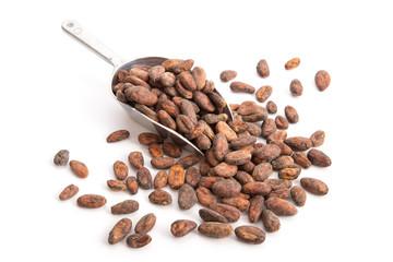 Schaufel mit Kakaobohnen