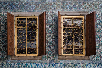 Windows of Harem of the Topkapi Palace